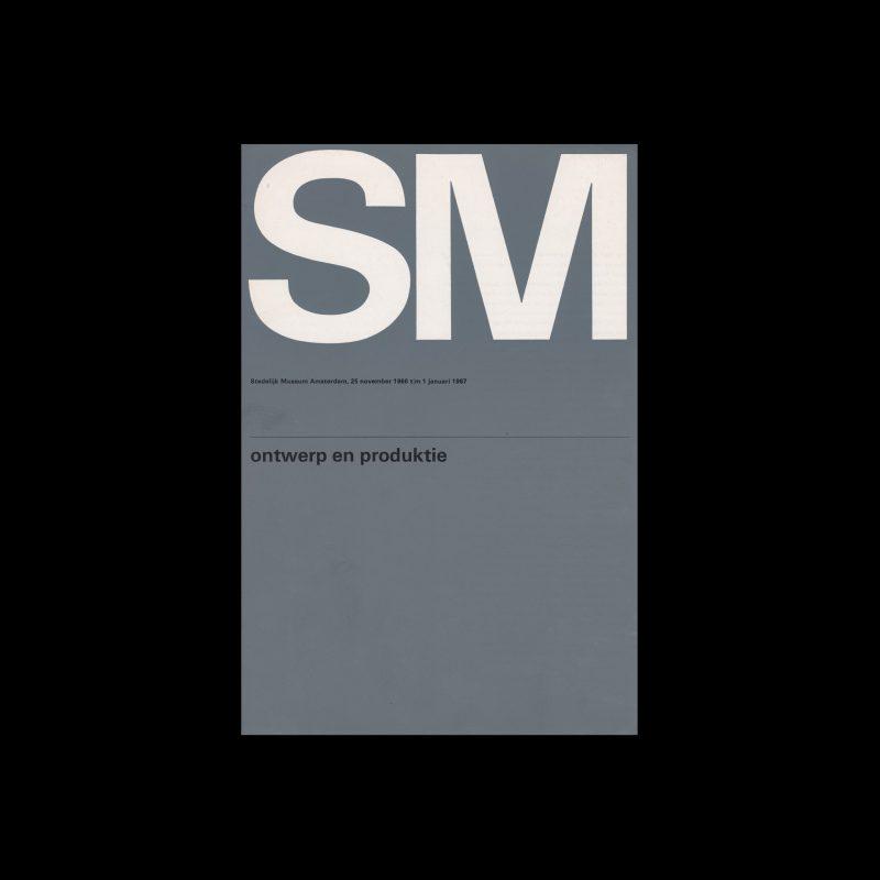 Ontwerp en Produktie, Stedelijk Museum, Amsterdam, 1966 designed by Wim Crouwel (Total Design)