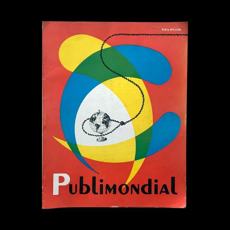 Publimondial 30, 1950, cover design by Pierre Fix-Masseau