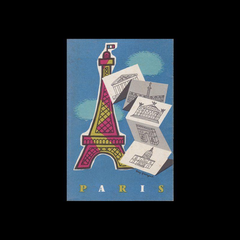 Paris Travel Brochure, 1969. Illustrated by Guy Georget.