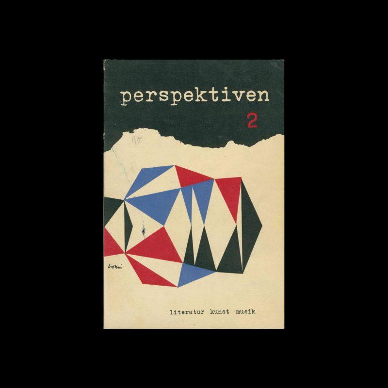 Perspektiven, Literatur, Kunst, Musik, 2, 1953. Cover design by Leo Lionni