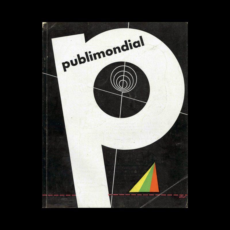 Publimondial 24, 1950. Cover design by Walter Allner.