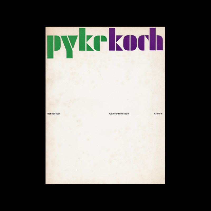 Pyke Koch, Gemeentemuseum, Arnhem, 1966 designed by P. Schulz