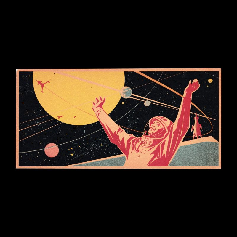 The path to the stars!, Russian 1963 Matchbox Label