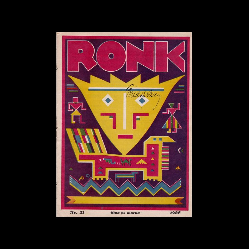 Ronk, Nr, 21, 1926. Cover design by Peet Aren