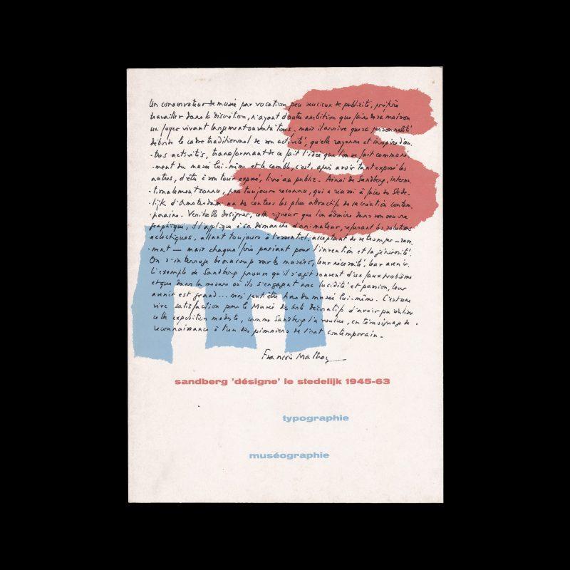 Sandberg 'désigne' le stedelijk 1945-63, Paris : Musée des arts décoratifs, 1973