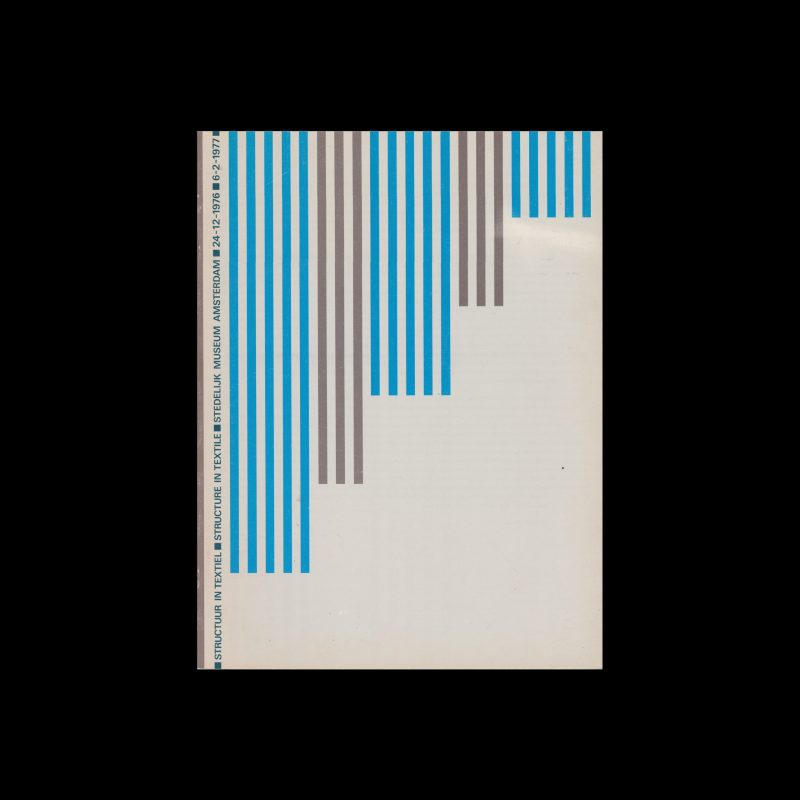 Structuur in Textiel, Stedelijk Museum, Amsterdam, 1977 designed by Wim Crouwel and Daphne Duijvelschoff (Total Design)