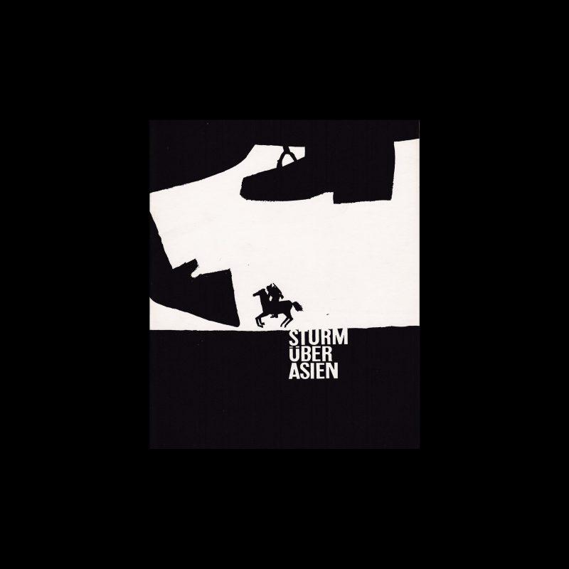 Sturm über Asien. Die Kleine Filmkunstreihe 17 designed by Hans Hillmann