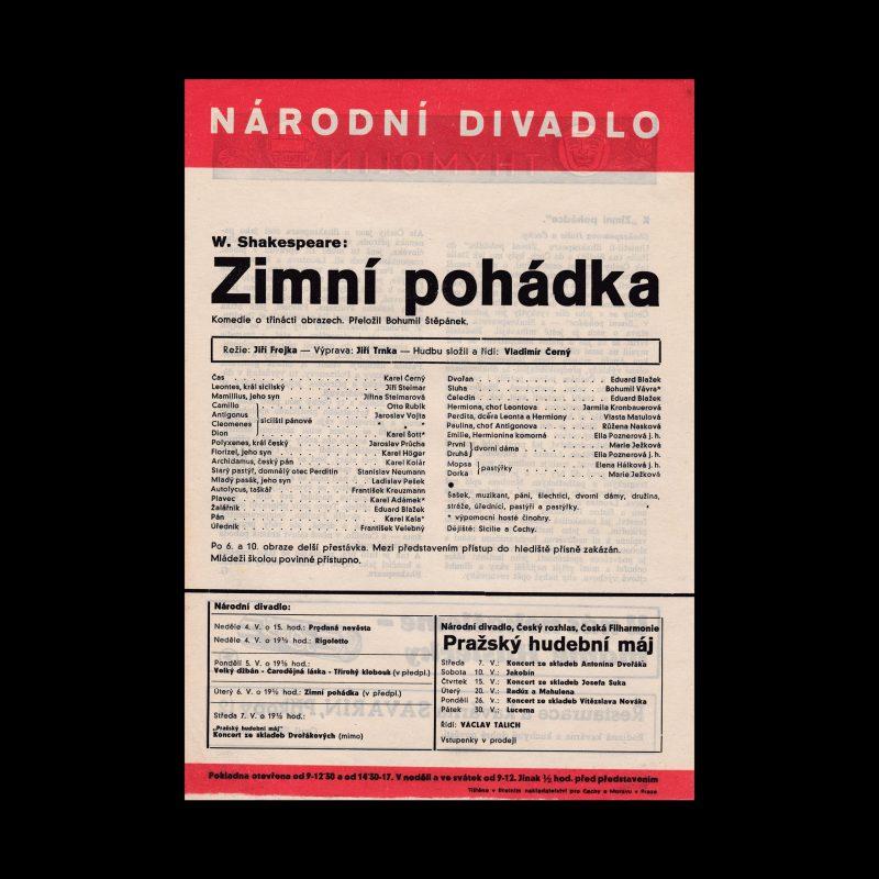 Zimní pohádka designed by Ludislav Sutnar