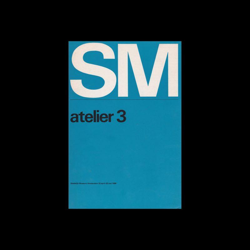 Atelier 3, Stedelijk Museum, Amsterdam, 1966 designed by Wim Crouwel and Ben Bos. (Total Design)
