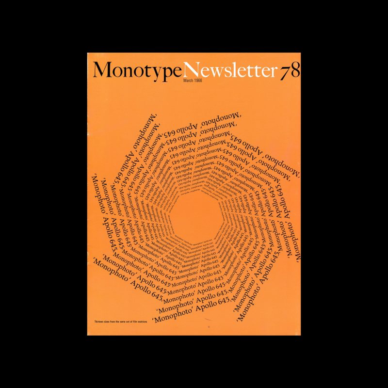 Monotype Newsletter 78, March 1966