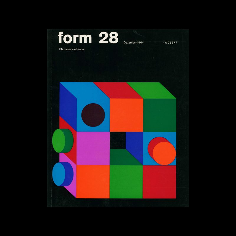 Form, Internationale Revue 28, December 1964. Designed by Karl Oskar Blase