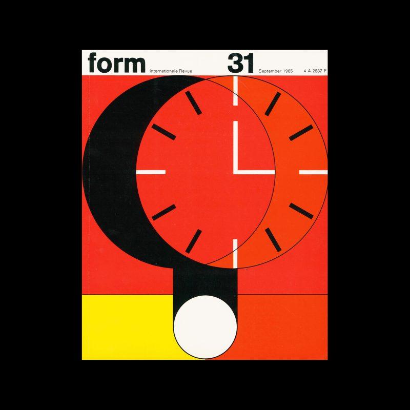 Form, Internationale Revue 31, September 1965. Designed by Karl Oskar Blase