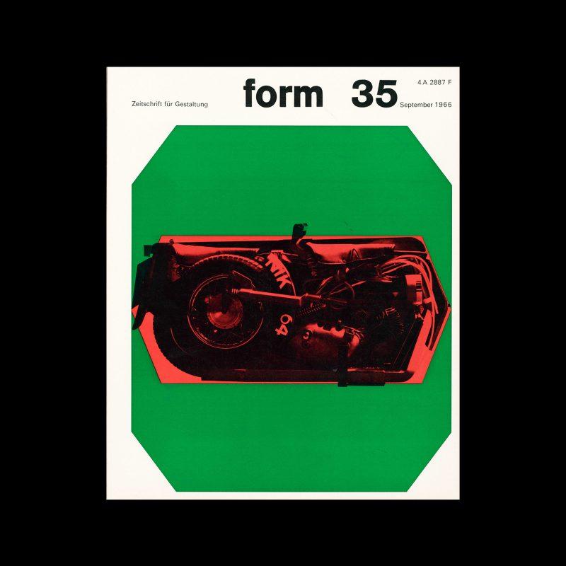 Form, Internationale Revue 35, September 1966. Designed by Karl Oskar Blase