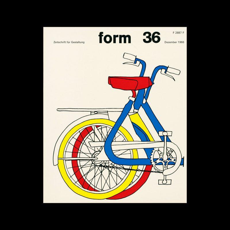 Form, Internationale Revue 36, December 1966. Designed by Karl Oskar Blase