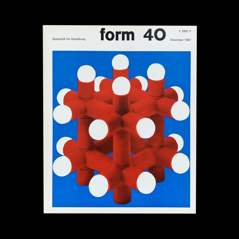 form 40 1967 Cover design- Karl Oskar Blase