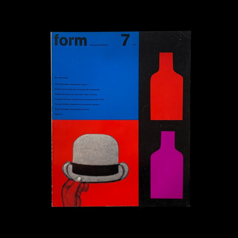 Form, Internationale Revue 7, 1959, Cover and Inners: Müller-Blase