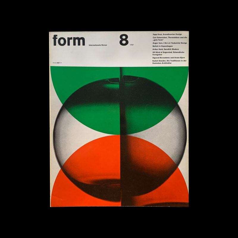Form, Internationale Revue 8, 1959 , Cover and Inners: Müller-Blase