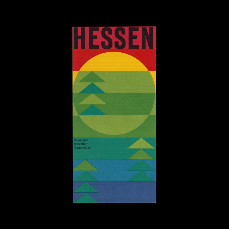 Hessen Travel Brochure designed by Karl Oskar Blase