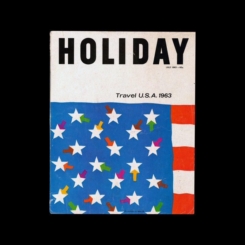 Holiday Magazine, July, 1963 designed by Rudolph de Harak