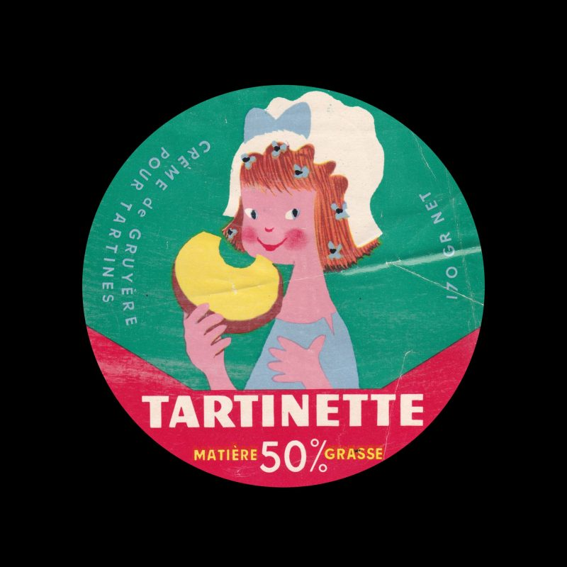 Tartinette crème de gruyère cheese label