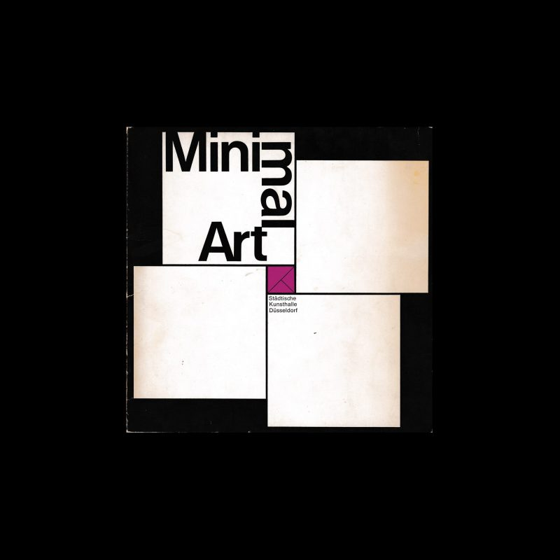 Minimal Art, Städtische Kunsthalle Düsseldorf, 1969 designed Walter Breker