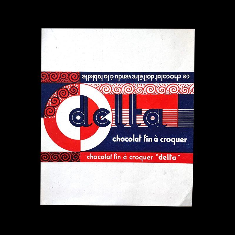 Delta vintage chocolate label