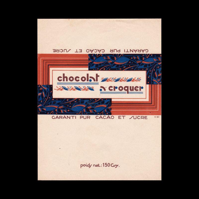 Chocolat Croquer vintage chocolate label